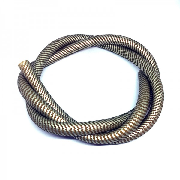 Silikonschlauch Carbonoptik Gold